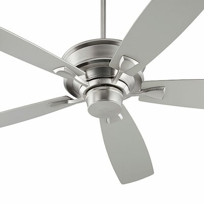 60 Alton 5 blade Ceiling Fan Finish: Satin Nickel