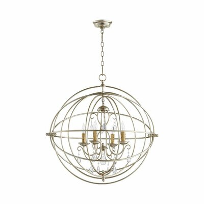 Cilia 4-Light Globe Pendant Finish: Aged Silver Leaf