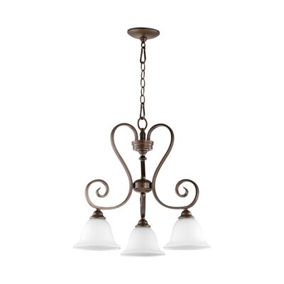 Celesta 3-Light Nook Pendant Finish: Oiled Bronze