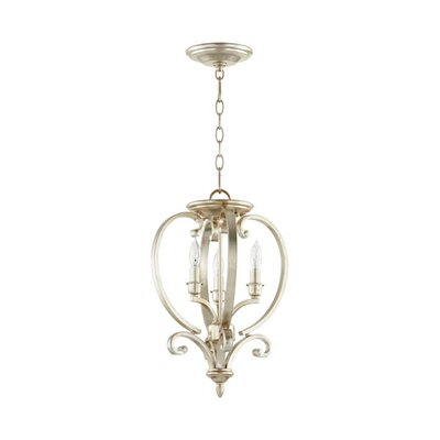 Bryant 3-Light Foyer Pendant Finish: Aged Silver Leaf