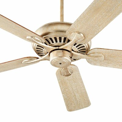 52 Pinnacle 5-Blade Ceiling Fan Finish: Aged Silver Leaf with Walnut/Weathered Oak Blades