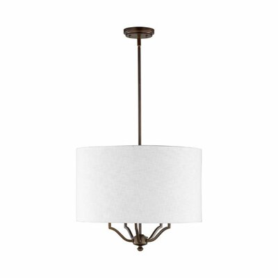 Atwood 5-Light Drum Pendant Shade Color: White