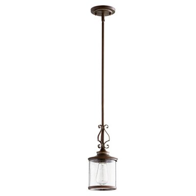 San Miguel 1-Light Drum Pendant Finish: Vintage Copper