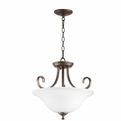 Celesta 2-Light Inverted Bowl Pendant