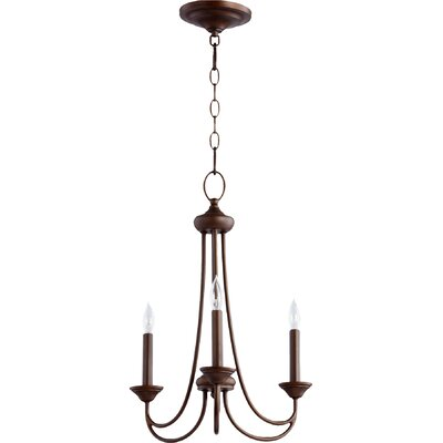 Brooks 3-Light Candle-Style Chandelier Finish: Oiled Bronze