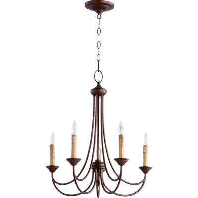 Gwendoline 5-Light Candle-Style Chandelier Finish: Oiled Bronze