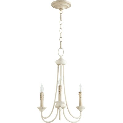 Brooks 3-Light Candle-Style Chandelier Finish: Persian White