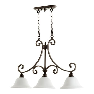 Bryant 3-Light Kitchen Island Pendant Size: 36 H x 23.5 W x 10 D, Finish: Oiled Bronze