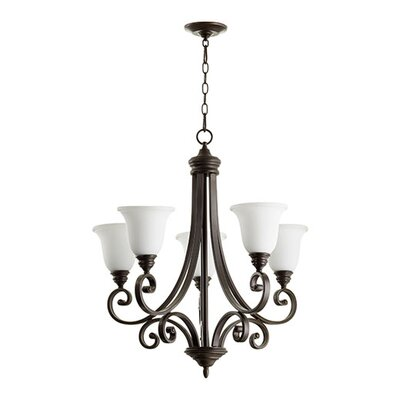 Bryant 5-Light Shaded Chandelier Finish: Oiled Bronze