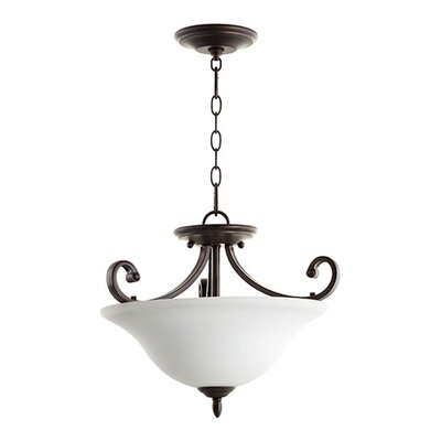 Bryant 3-Light Inverted Bowl Pendant Finish: Oiled Bronze