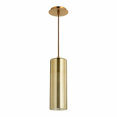 Laser 1-Light Mini Pendant Finish: Satin Copper