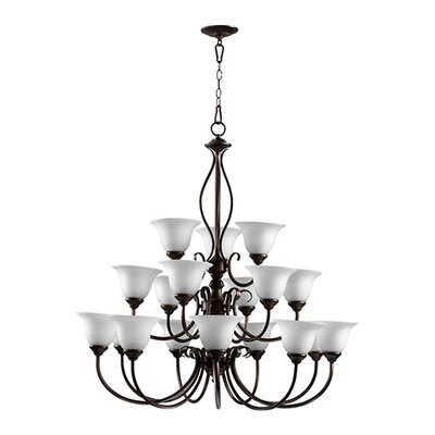 Spencer 18-Light Shaded Chandelier