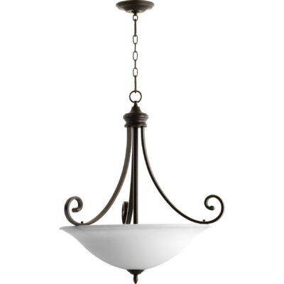 Bryant 4-Light Inverted Bowl Pendant Finish: Oiled Bronze