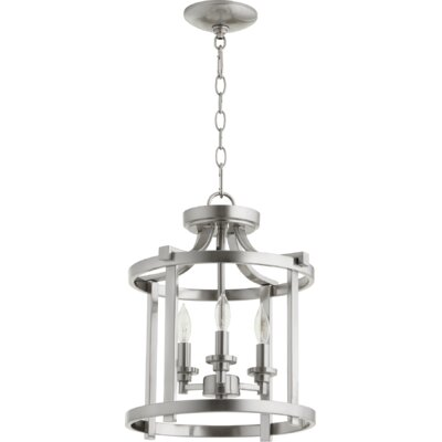Lancaster 3-Light Foyer Pendant Finish: Satin Nickel