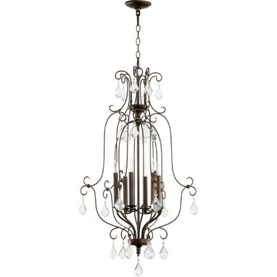 Ariel Entry 6-Light Candle-Style Chandelier Finish: Vintage Copper