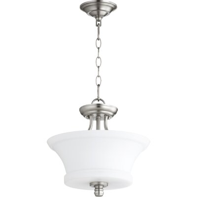 Rossington 2-Light Bowl Pendant Finish: Satin Nickel