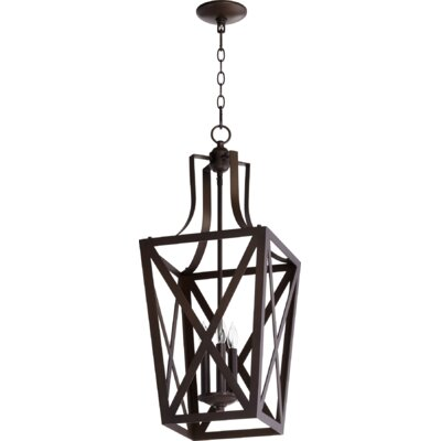 Trap Entry 3-Light Foyer Pendant Finish: Oiled Bronze