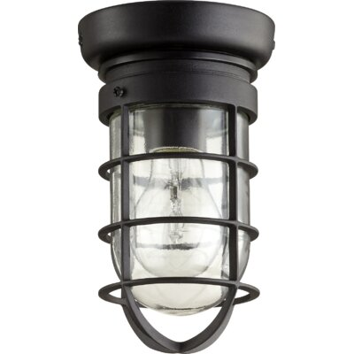 Bowery 1-Light Flush Mount Finish: Noir