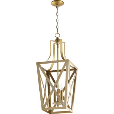 Trap Entry 3-Light Foyer Pendant Finish: Aged Brass