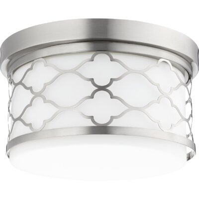 Trellis 2-Light Flush Mount Finish: Satin Nickel