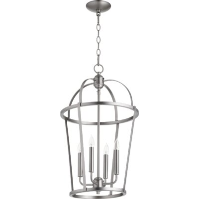 Mitre Entry 4-Light Foyer Pendant Finish: Satin Nickel
