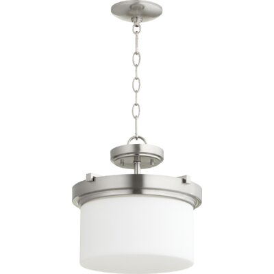 Lancaster 2-Light Drum Pendant Finish: Satin Nickel