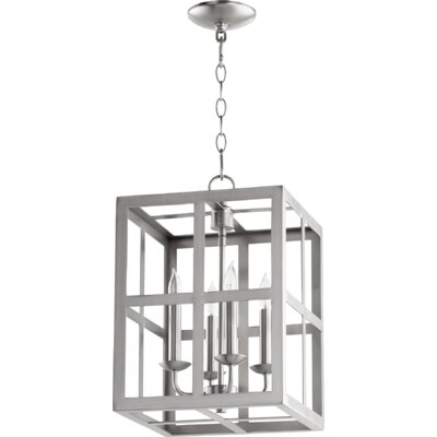 Cuboid II Entry 4-Light Foyer Pendant Finish: Satin Nickel