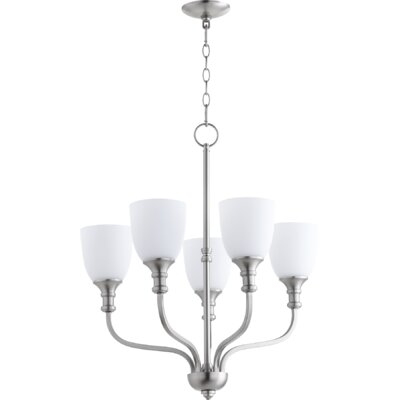 Falbo 5-Light Shaded Chandelier Finish: Satin Nickel