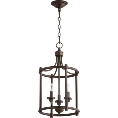 Rossington Entry 3-Light Foyer Pendant Finish: Oiled Bronze