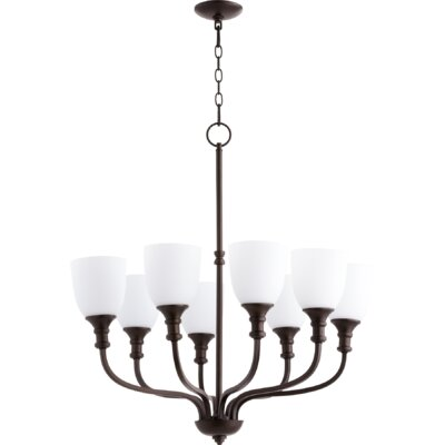 Richmond 8-Light Shaded Chandelier Finish: Oiled Bronze