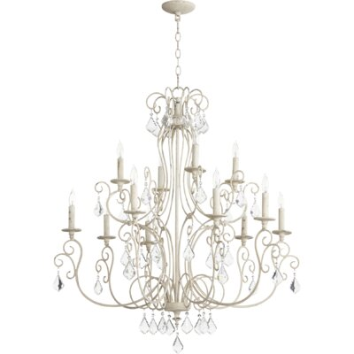 Ariel 12-Light Candle-Style Chandelier Finish: Persian White