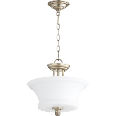 Rossington 2-Light Bowl Pendant Finish: Aged Silver Leaf