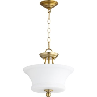 Rossington 2-Light Bowl Pendant Finish: Aged Brass