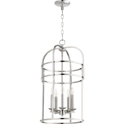 Toque Entry 5-Light Foyer Pendant Finish: Polished Nickel