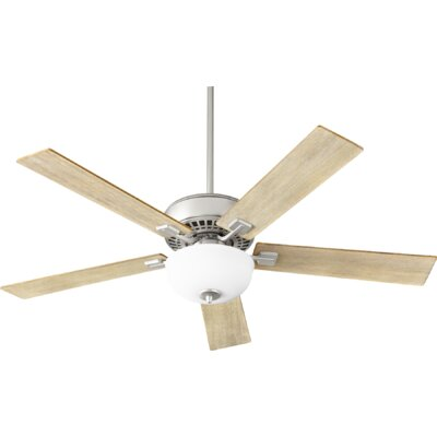 52 Rothman 5-Blade Ceiling Fan Finish: Satin Nickel
