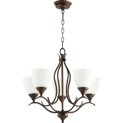 Flora Fall 5-Light Shaded Chandelier Finish: Oiled Bronze
