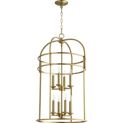 Toque Entry 8-Light Foyer Pendant Finish: Aged Brass