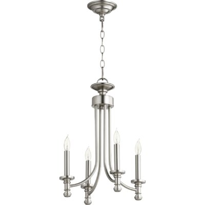 Rossington 4-Light Candle-Style Chandelier Finish: Satin Nickel