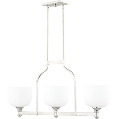 Richmond 3-Light Kitchen Island Pendant Finish: Polished Nickel