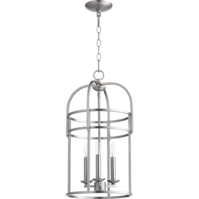 Toque Entry 3-Light Foyer Pendant Finish: Satin Nickel