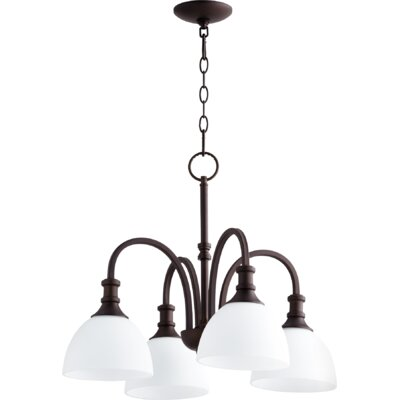 Richmond 4-Light Shaded Chandelier Finish: Oiled Bronze