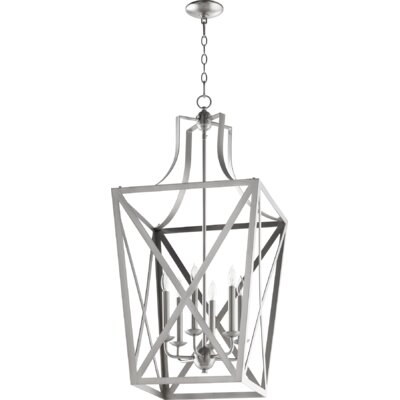 Trap Entry 6-Light Foyer Pendant Finish: Satin Nickel