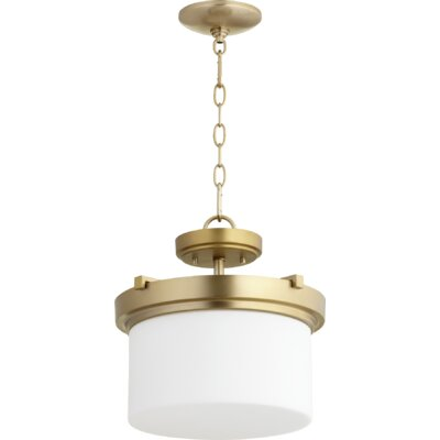 Lancaster 2-Light Drum Pendant Finish: Aged Brass