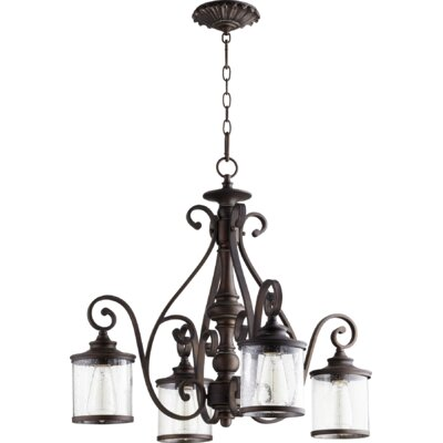 San Miguel 4-Light Shaded Chandelier Finish: Vintage Copper
