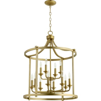 Lancaster Entry 12-Light Foyer Pendant Finish: Aged Brass