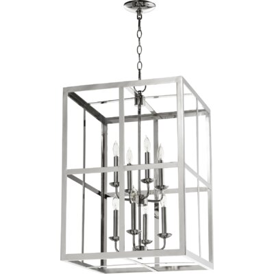 Cubiod II Entry 8-Light Foyer Pendant Finish: Polished Nickel