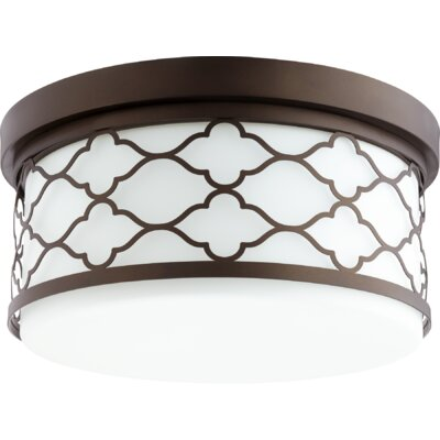 Trellis 3-Light Flush Mount Finish: Oiled Bronze