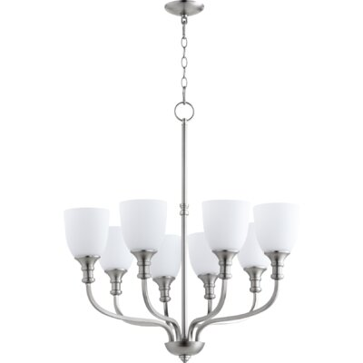 Falbo 8-Light Shaded Chandelier Finish: Satin Nickel