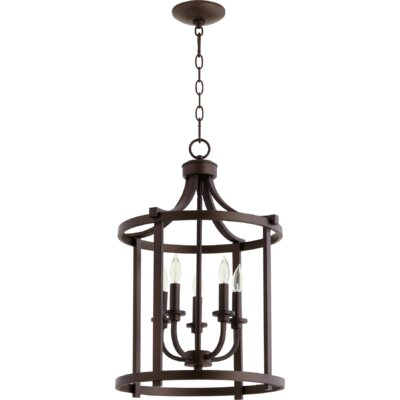 Lancaster Entry 5-Light Foyer Pendant Finish: Oiled Bronze
