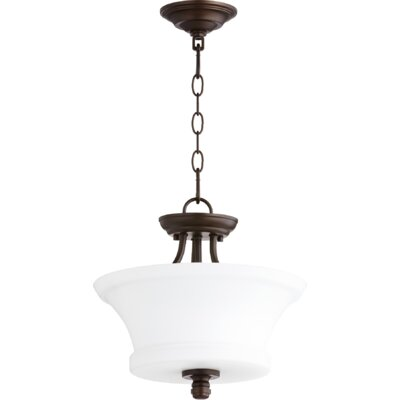 Rossington 2-Light Bowl Pendant Finish: Oiled Bronze
